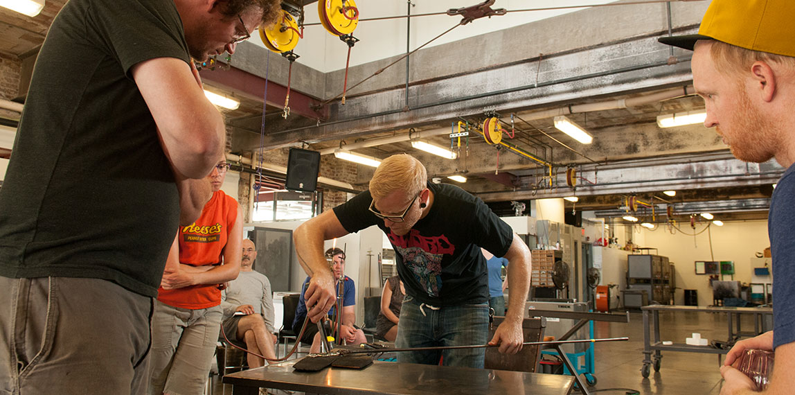 Summer Intensive glassmaking classes at Pittsburgh Glass Center