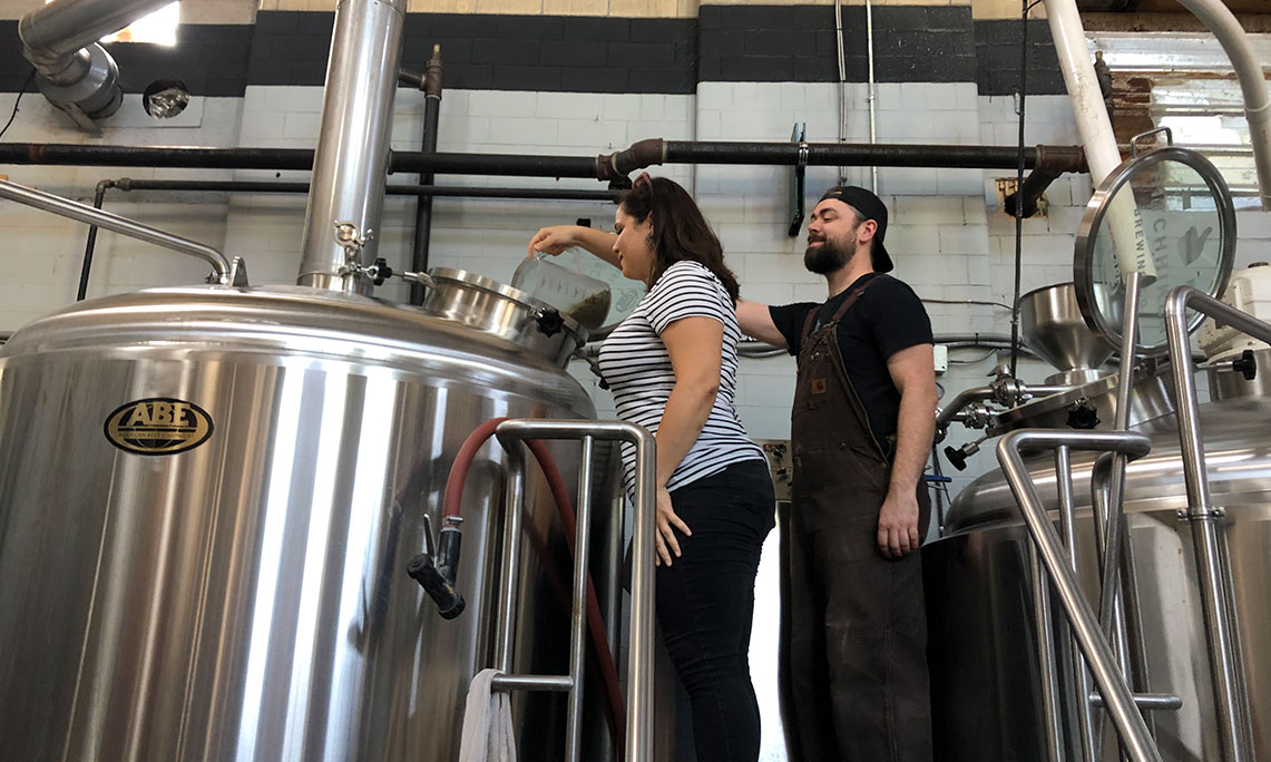 PGC staff helps brew beer collaboration at Hitchhiker Brewing Co.