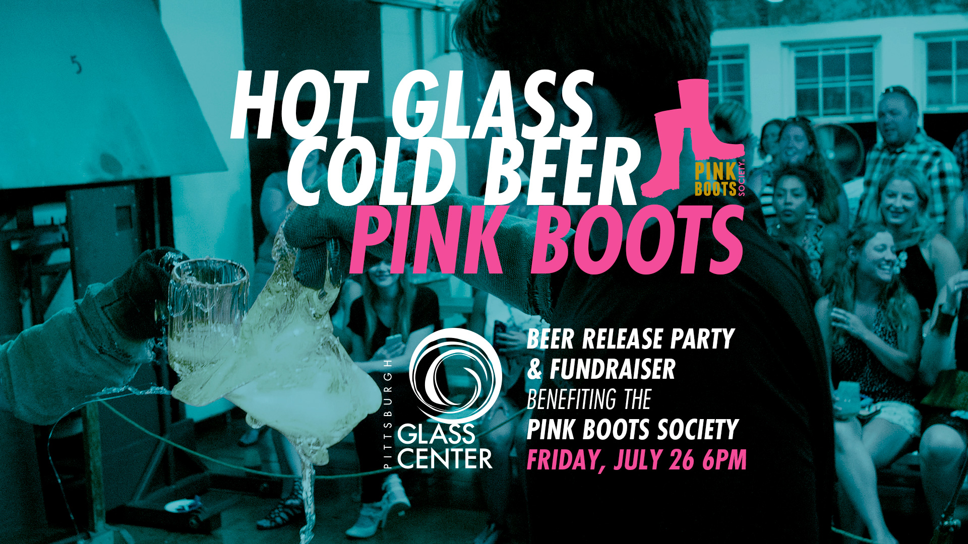 Pink Boots Society fundraiser at Pittsburgh Glass Center