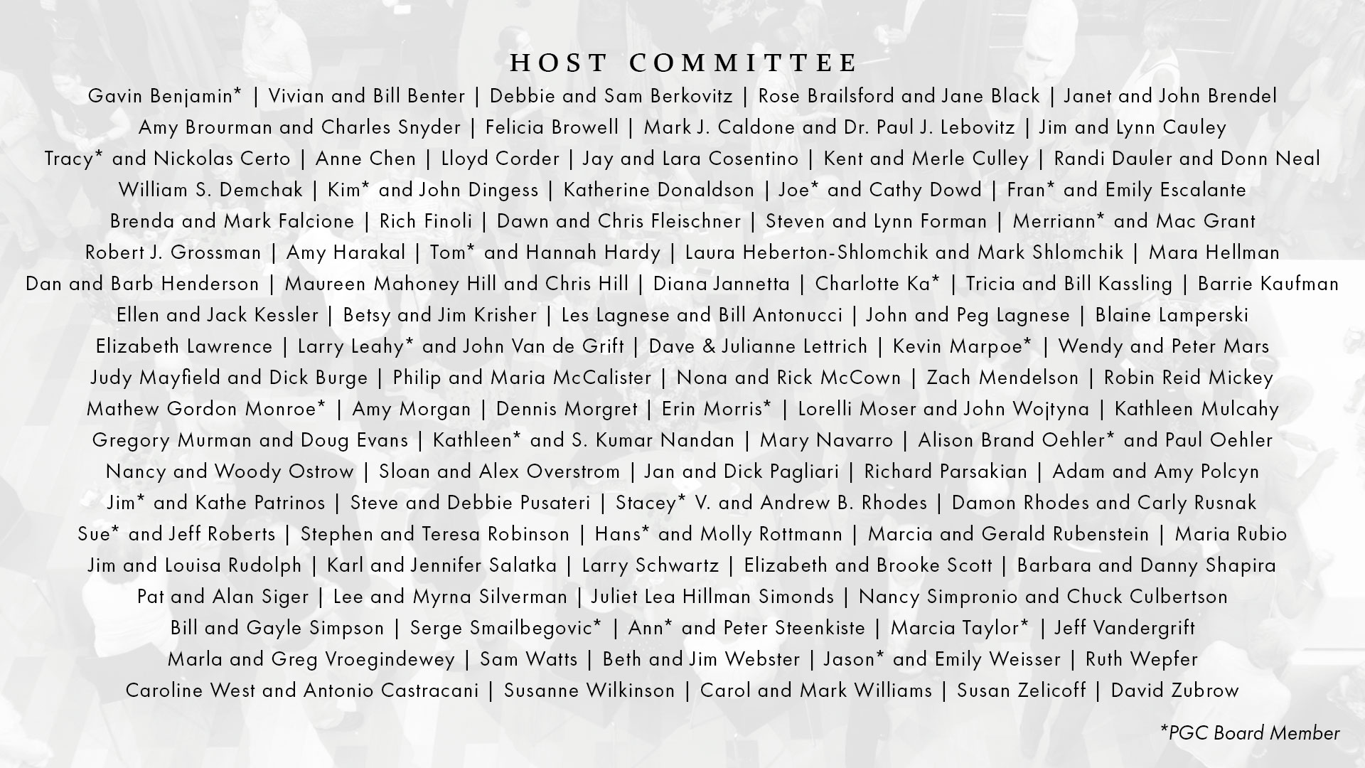 Art on Fire 2019 Host Committee