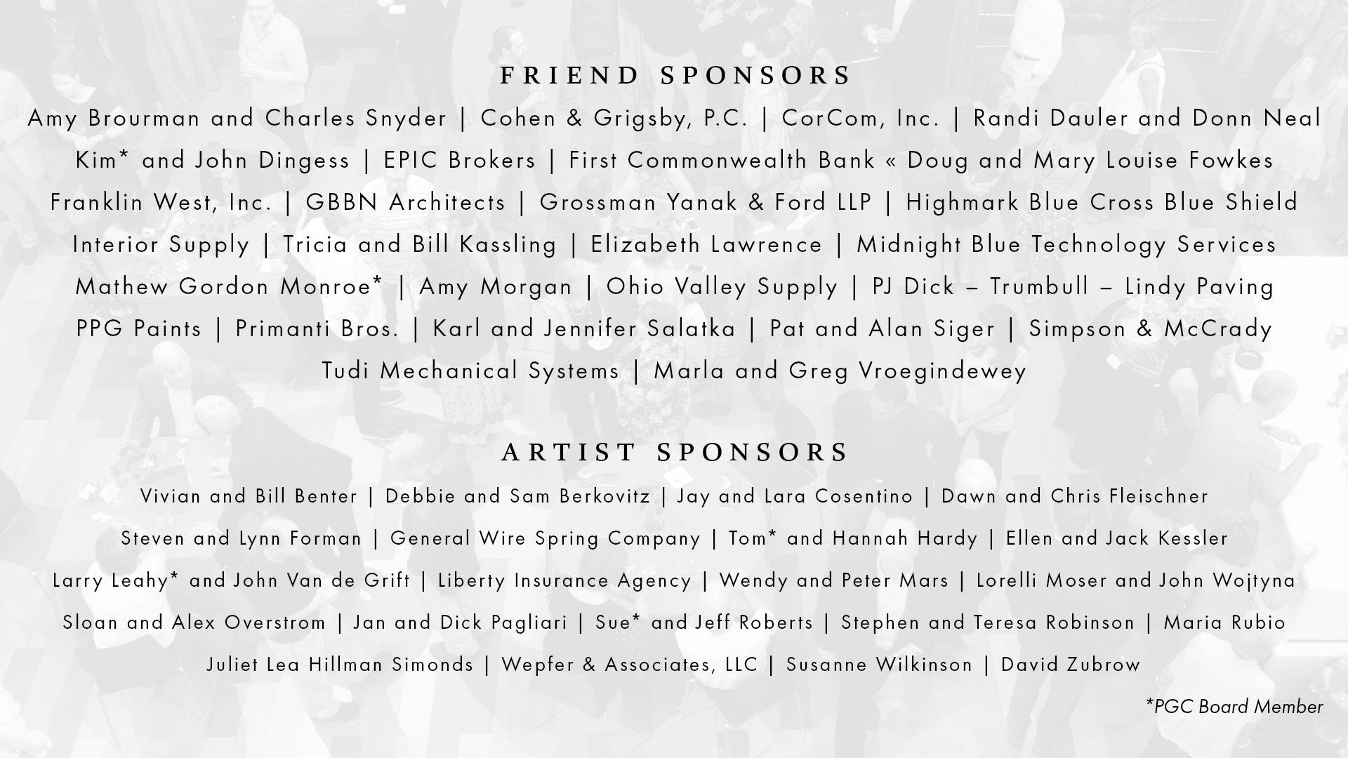 Art on Fire 2019 Sponsors