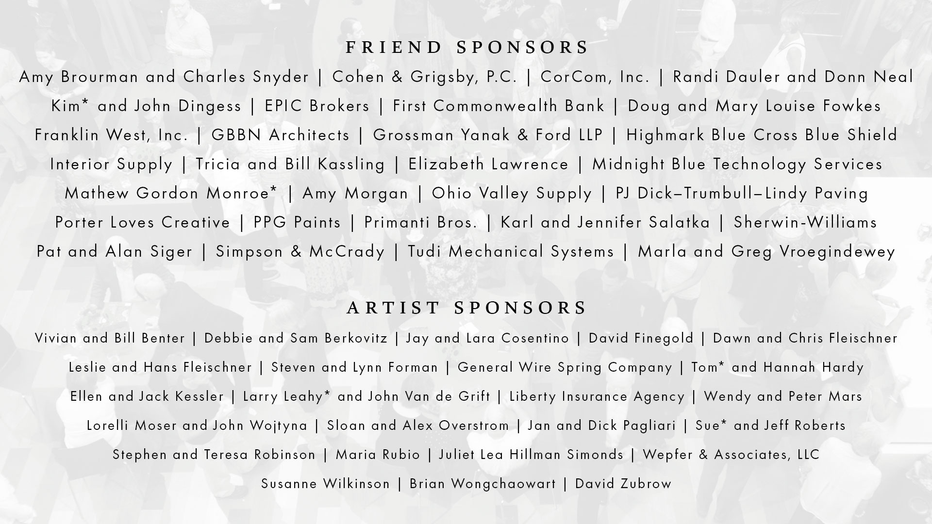 Art on Fire 2019 Sponsors
