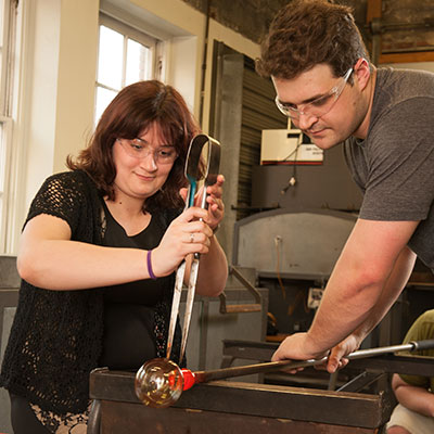 Make your own glass ornament at Pittsburgh Glass Center