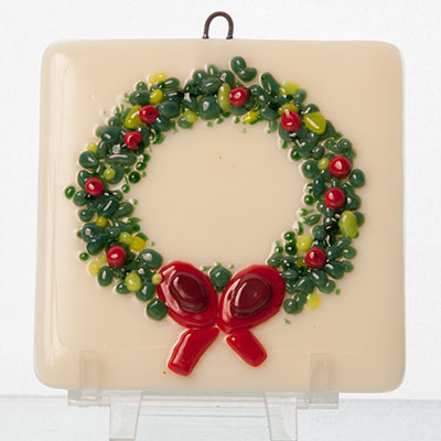 Make a fused glass holiday ornament at Pittsburgh Glass Center