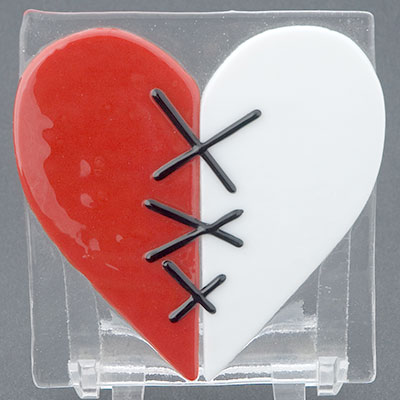 Fused glass Valentines at Pittsburgh Glass Center