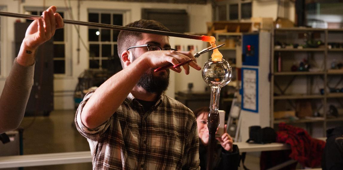 Glassblowing demonstration