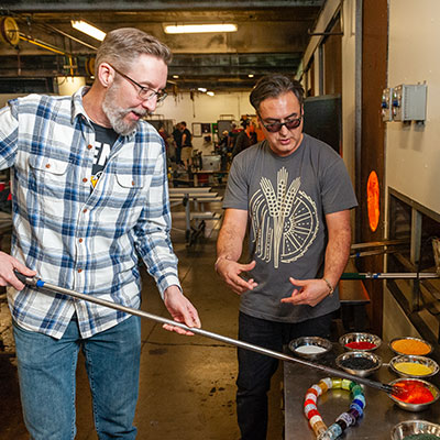 Make a beer glass at Pittsburgh Glass Center