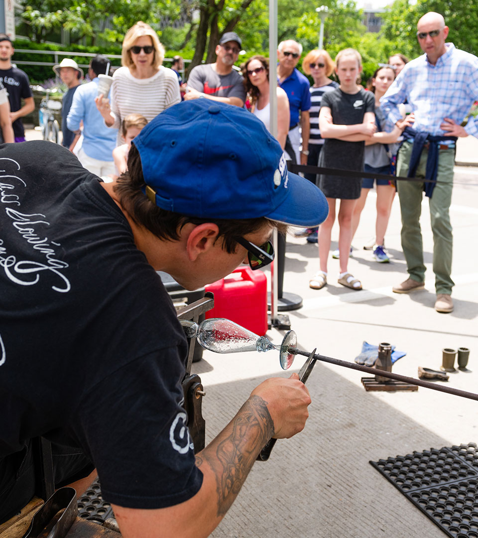 Pittsburgh Glass Center's Hot Wheels mobile glassblowing events