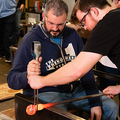 Glassblowing at Pittsburgh Glass Center