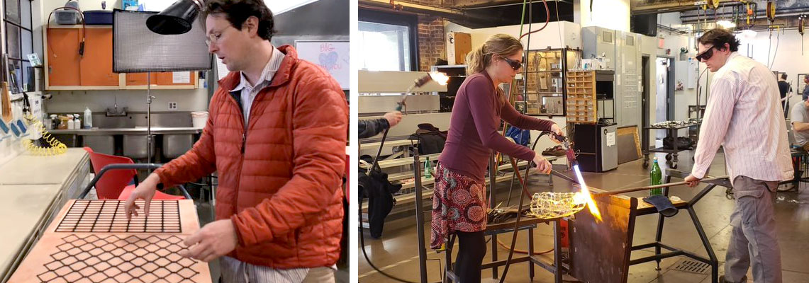Artists Jenn Figg and Matthew McCormack experiment with new glass techniques at Pittsburgh Glass Center