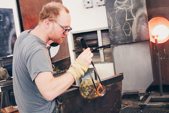 Jason Forck Blowing Glass