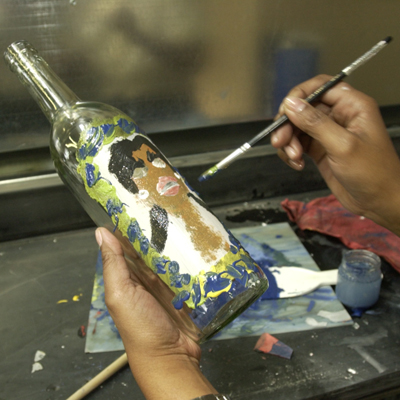 Painting a bottle