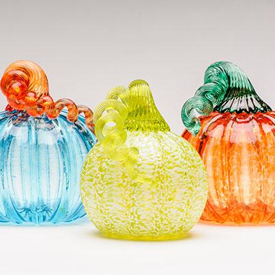 Make a blown glass pumpkin at Pittsburgh Glass Center