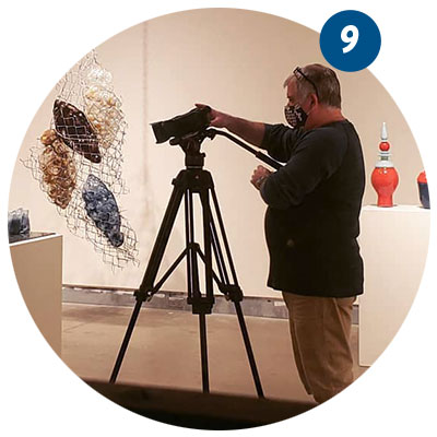 Filming a virtual gallery tour