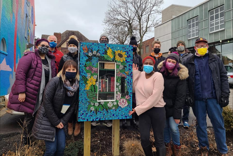 Little Free Library at Pittsburgh Glass Center