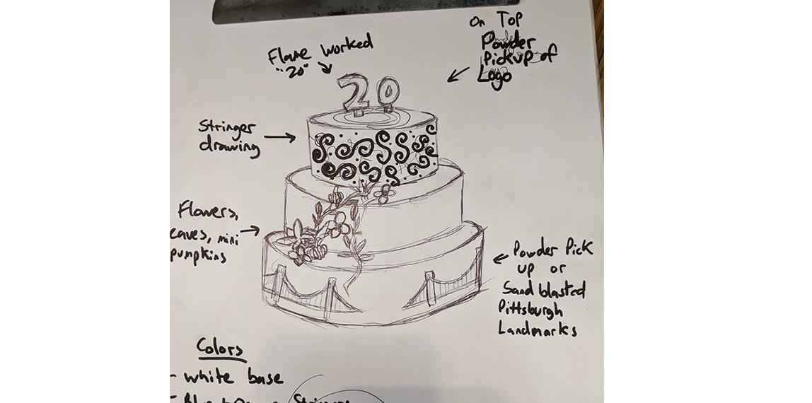 Sketch of Glass Cake
