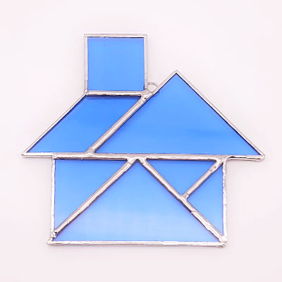 Stained Glass Tangram House
