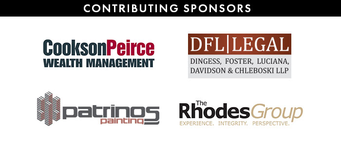 Contributing Sponsors: Cookson Peirce Wealth Management; DFL Legal; Patrinos Painting; The Rhodes Group