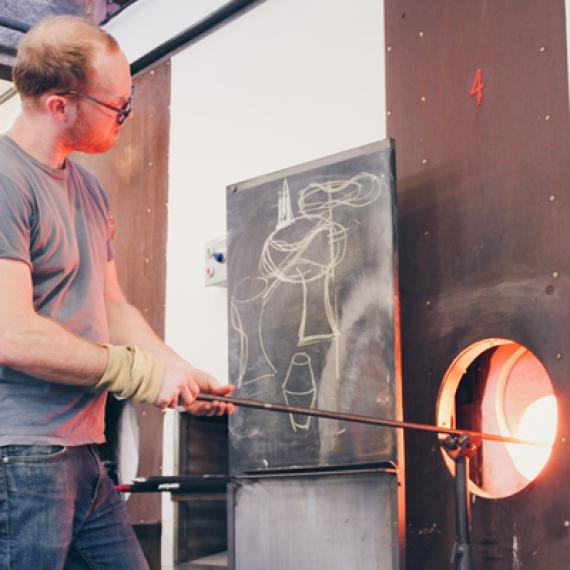 Jason Forck Glassblowing Demonstration
