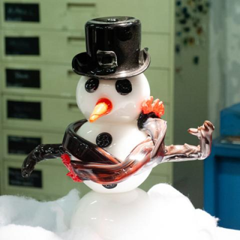 Holiday Glass Sale - Snowman