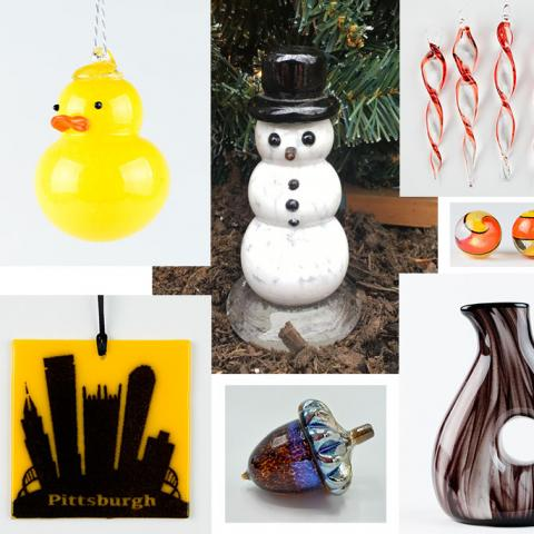 Holiday Glass Art Items